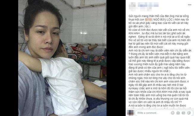 """Drama mãi không hồi kết, Bửu Lộc vừa đăng đàn nói Nhật Kim Anh bịa chuyện, phía nữ diễn viên """"Tiếng sét trong mưa"""" lại tố ngược """"thấy bài viết của anh nó hiện lên hai từ giả tạo"""" - Ảnh 2."""