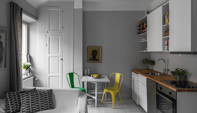 10 nhà bếp nhỏ vẫn có nơi ăn sáng đáng yêu, xinh xắn nhờ cách thiết kế thông minh - Ảnh 6.