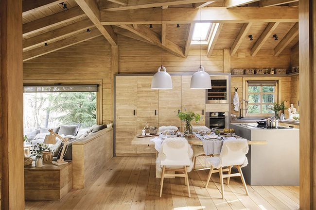 Thiết kế nhà gỗ cho ngôi nhà luôn ấm áp trong những ngày đông lạnh giá - Ảnh 1.