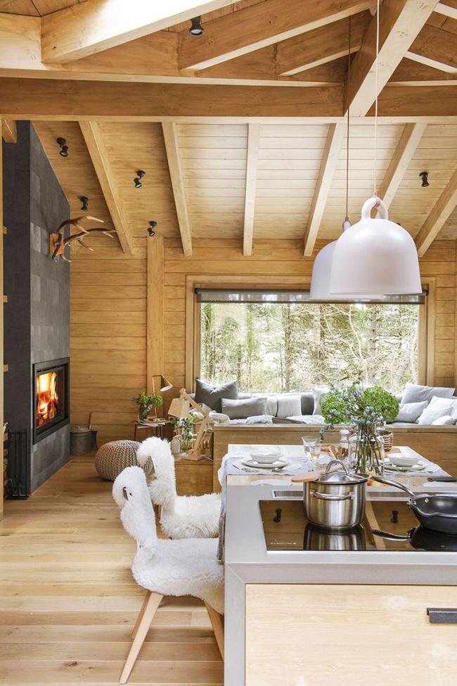 Thiết kế nhà gỗ cho ngôi nhà luôn ấm áp trong những ngày đông lạnh giá - Ảnh 4.