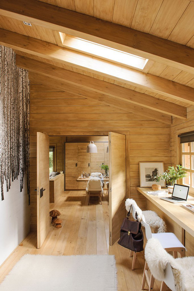 Thiết kế nhà gỗ cho ngôi nhà luôn ấm áp trong những ngày đông lạnh giá - Ảnh 7.