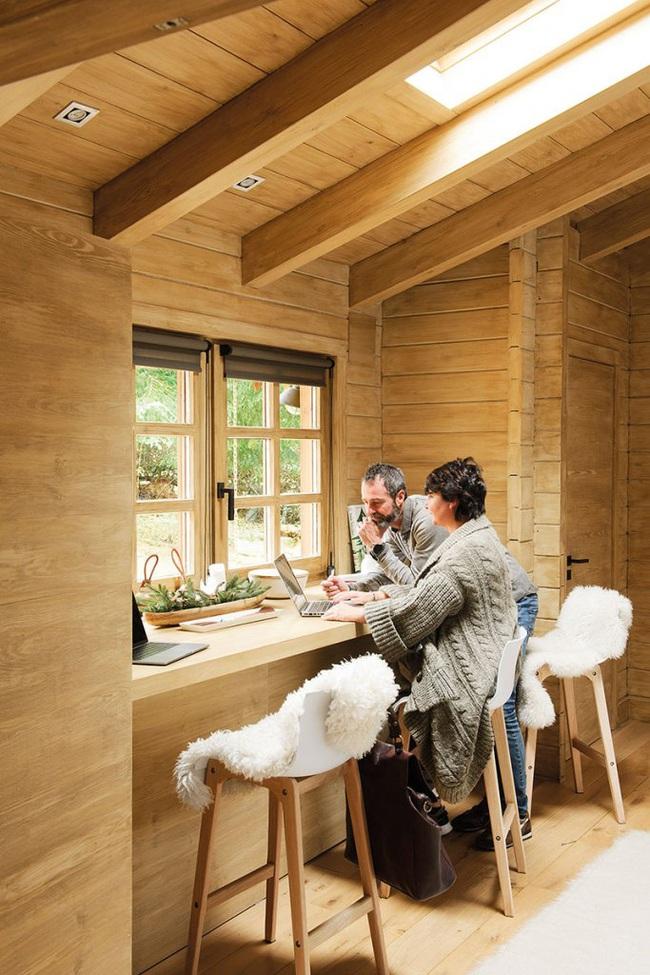 Thiết kế nhà gỗ cho ngôi nhà luôn ấm áp trong những ngày đông lạnh giá - Ảnh 8.