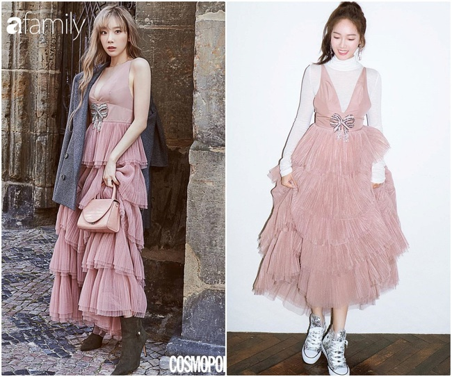 Cùng 1 chiếc váy: Taeyeon gợi cảm, khoe vòng 1 nóng bỏng bức người đến Jessica lại kín đáo, trẻ trung như nữ sinh - Ảnh 4.