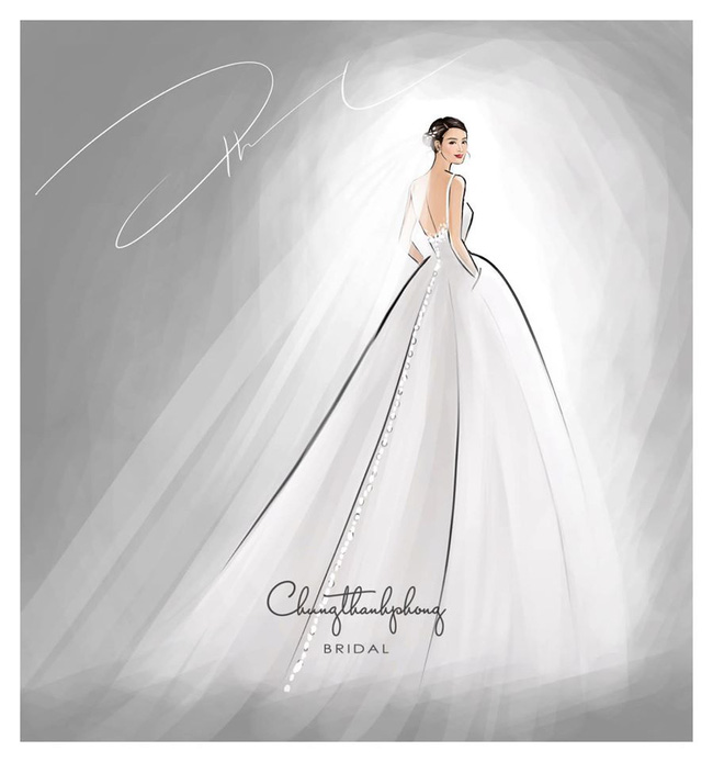 2 mẫu váy cưới chính thức của Đông Nhi vừa được hé lộ: Thiết kế lộng lẫy đẹp tuyệt trần với cảm hứng công nương Hoàng gia - Ảnh 2.