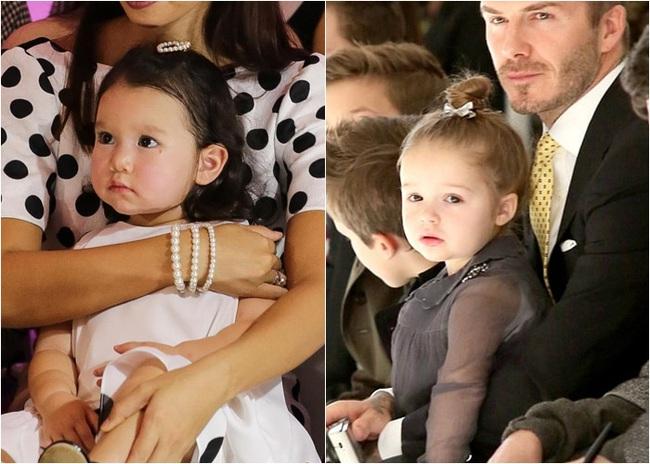 """Phát hiện thú vị của """"hội fan cuồng"""" con gái siêu mẫu Hà Anh: Từ thần thái đến gương mặt bé Myla đều rất giống Harper Beckham - Ảnh 6."""