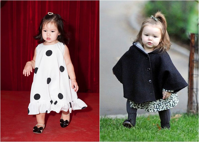 """Phát hiện thú vị của """"hội fan cuồng"""" con gái siêu mẫu Hà Anh: Từ thần thái đến gương mặt bé Myla đều rất giống Harper Beckham - Ảnh 2."""
