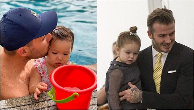 """Phát hiện thú vị của """"hội fan cuồng"""" con gái siêu mẫu Hà Anh: Từ thần thái đến gương mặt bé Myla đều rất giống Harper Beckham - Ảnh 8."""