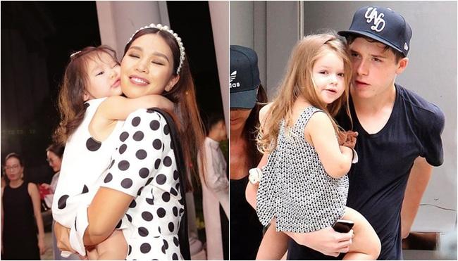 """Phát hiện thú vị của """"hội fan cuồng"""" con gái siêu mẫu Hà Anh: Từ thần thái đến gương mặt bé Myla đều rất giống Harper Beckham - Ảnh 9."""