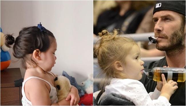 """Phát hiện thú vị của """"hội fan cuồng"""" con gái siêu mẫu Hà Anh: Từ thần thái đến gương mặt bé Myla đều rất giống Harper Beckham - Ảnh 4."""