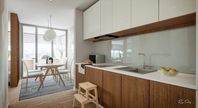 Căn hộ nhỏ sáng tạo với thiết kế đặc biệt biến phòng tắm thành trung tâm - Ảnh 10.