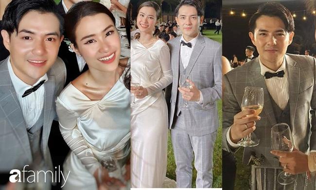 Cứ mải chú ý đến cô dâu, chú rể Ông Cao Thắng cũng không kém cạnh thay tới 3 bộ lễ phục  - Ảnh 3.