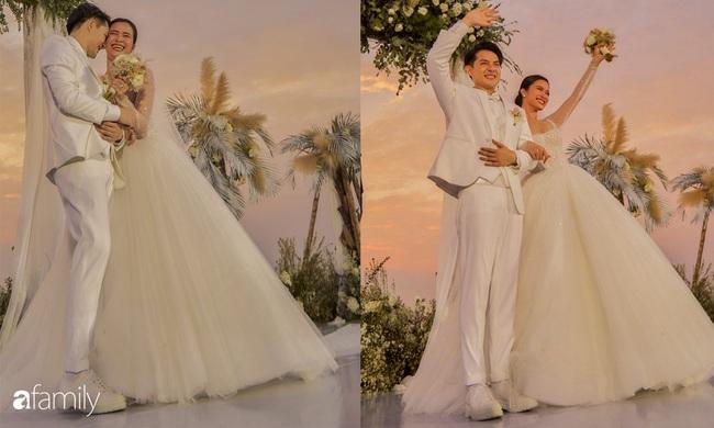 Cứ mải chú ý đến cô dâu, chú rể Ông Cao Thắng cũng không kém cạnh thay tới 3 bộ lễ phục  - Ảnh 2.