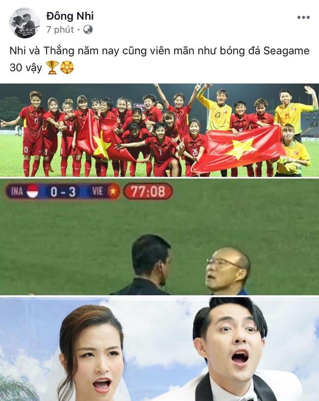 Việt Nam vô địch SEA Games, dàn sao Việt nô nức đi bão, mở tiệc ăn mừng linh đình - Ảnh 12.