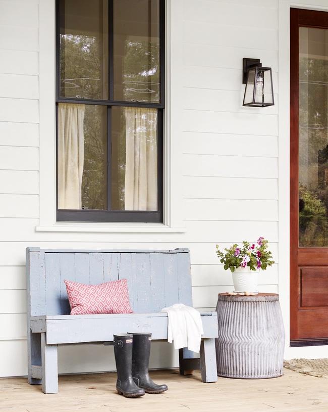 Ngôi nhà màu trắng đẹp ngỡ ngàng ở miền quê xanh mướt mát ai cũng phải thích mê - Ảnh 12.
