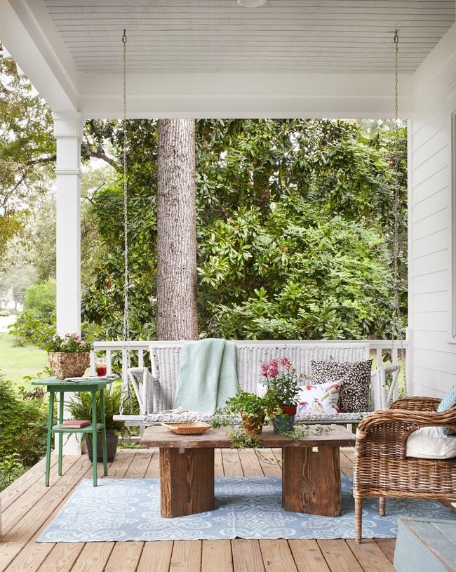 Ngôi nhà màu trắng đẹp ngỡ ngàng ở miền quê xanh mướt mát ai cũng phải thích mê - Ảnh 2.