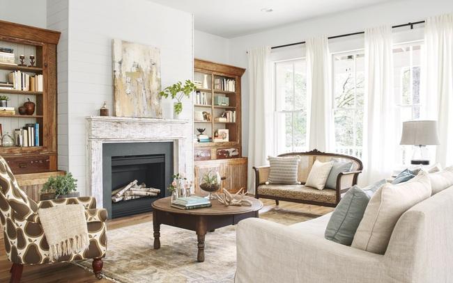 Ngôi nhà màu trắng đẹp ngỡ ngàng ở miền quê xanh mướt mát ai cũng phải thích mê - Ảnh 3.