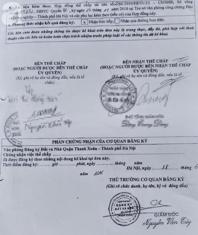 Vụ người người phụ nữ tự vẫn tại nhà riêng ở Hà Nội: Lộ ra hợp đồng thế chấp của chủ cũ - Ảnh 4.