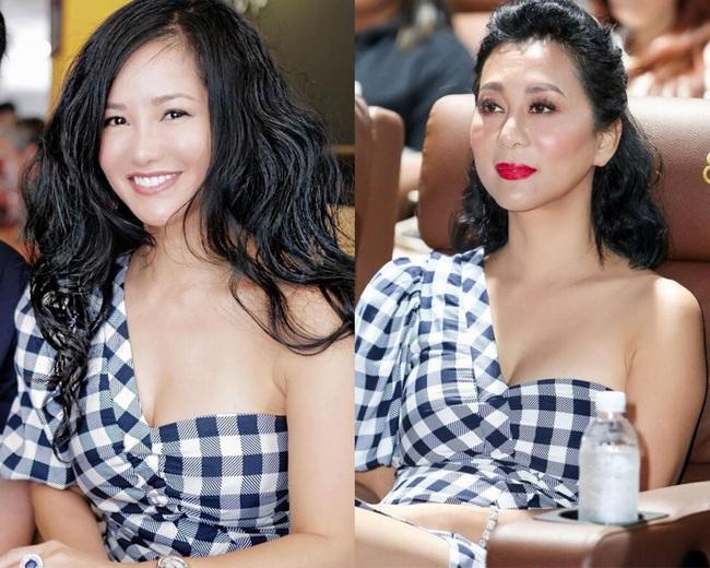 Hồng Nhung và MC Kỳ Duyên đụng nhau đầm ôm sát cực bốc, khiến hội chị em phát ghen với thân hình mỹ miều ở ngưỡng U50 - Ảnh 5.