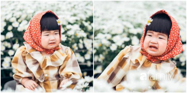 """Cười nghiêng ngả với bộ ảnh """"Đang đói còn bắt chụp hình"""" của bé gái giữa vườn cúc họa mi - Ảnh 1."""