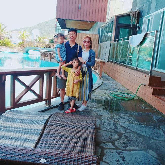 Gia đình Việt - Hàn của Dịu và chồng.