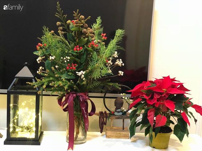 Ngắm những bình hoa tự cắm giúp tổ ấm thêm đẹp an lành đón Noel của những người phụ nữ Việt khéo tay - Ảnh 3.