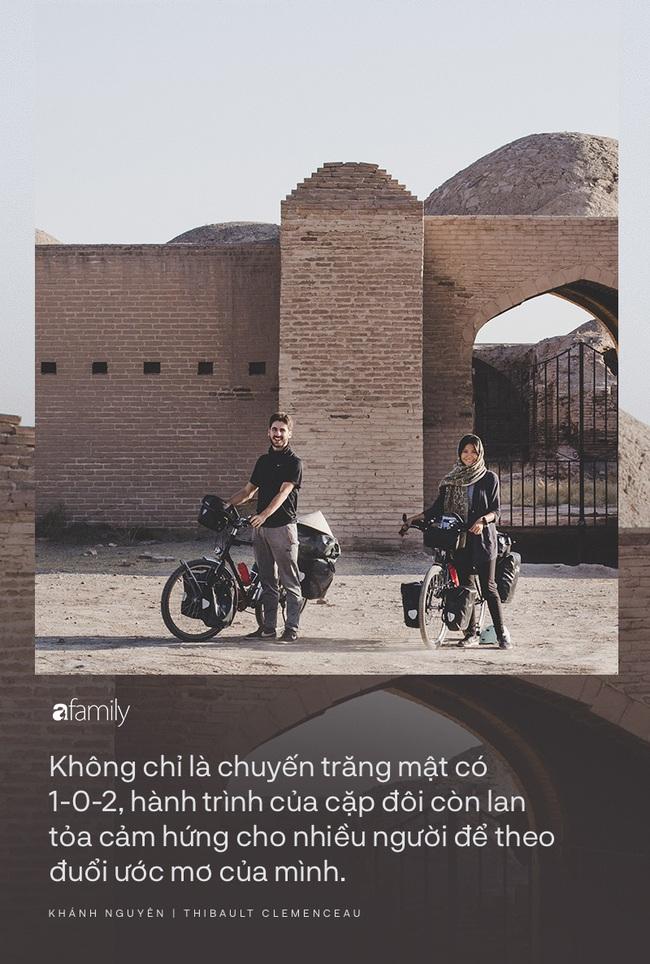 Những người trẻ chọn lối đi khó và chuyến trăng mật phiêu lưu kéo dài 1 năm, đội nón lá đạp xe 16.000km từ Pháp về Việt Nam - Ảnh 8.