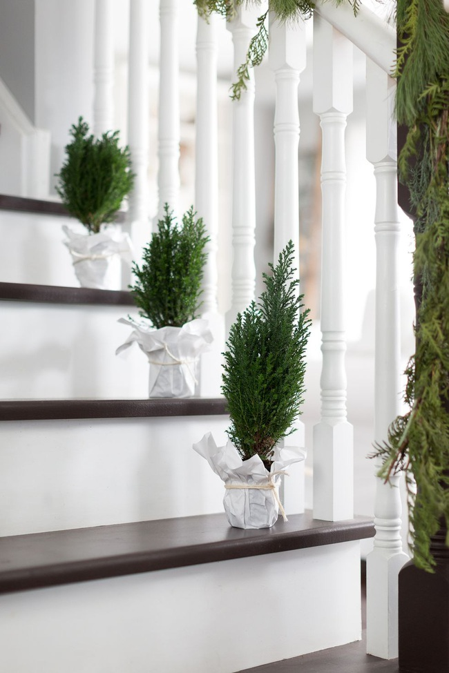 Mang vẻ đẹp hoàn hảo cho cầu thang dịp Giáng sinh nhờ lựa chọn đồ trang trí đúng điệu - Ảnh 8.