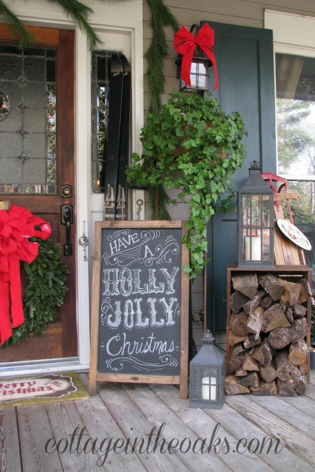 Hiên nhà xinh đẹp đón khách nhờ những ý tưởng decor độc đáo mùa Giáng sinh - Ảnh 3.
