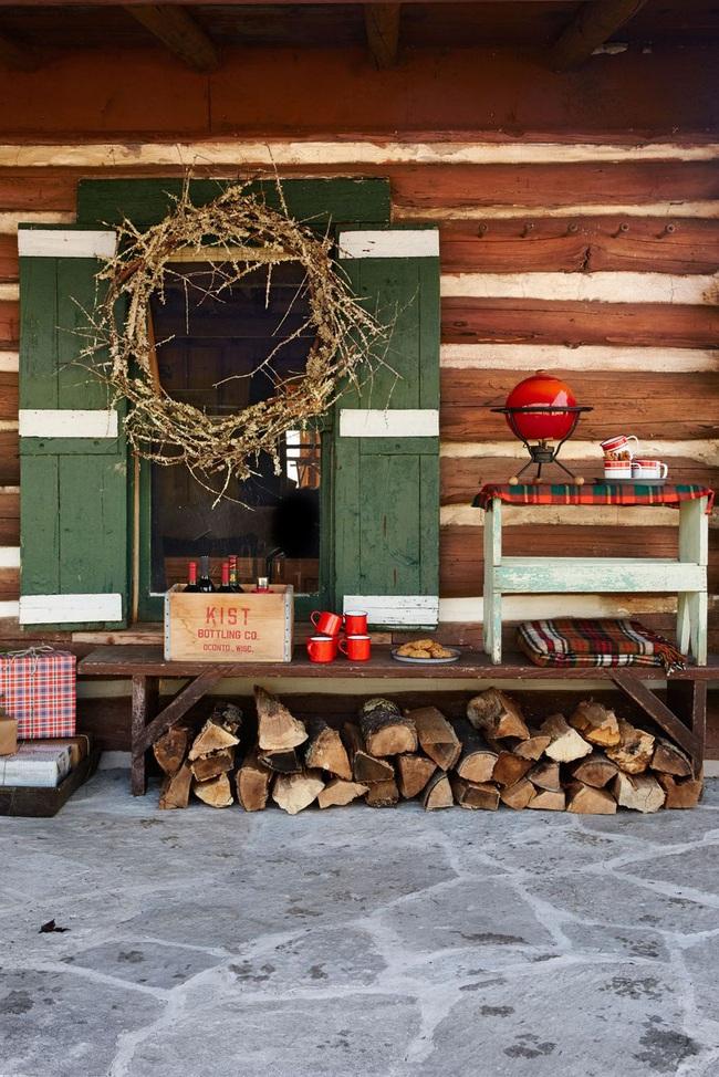 Hiên nhà xinh đẹp đón khách nhờ những ý tưởng decor độc đáo mùa Giáng sinh - Ảnh 4.
