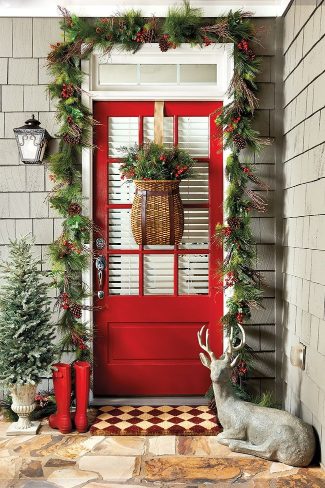 Hiên nhà xinh đẹp đón khách nhờ những ý tưởng decor độc đáo mùa Giáng sinh - Ảnh 9.