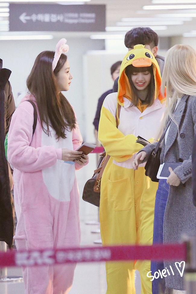 """Không biến sân bay thành sàn diễn, Jisoo và Lisa vẫn chiếm trọn spotlight với màn cosplay thỏ - vịt """"cute vô đối"""" - Ảnh 2."""
