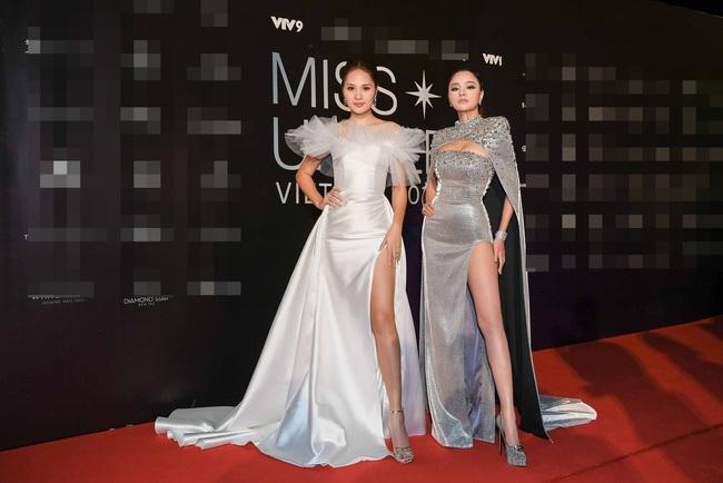 Thảm đỏ bán kết Hoa hậu Hoàn vũ Việt Nam 2019: Vũ Thu Phương quyền lực đọ dáng bên cạnh người đẹp Hương Giang - Ảnh 3.