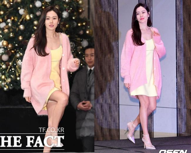 Có là đại mỹ nhân như Son Ye Jin hay Song Hye Kyo cũng rơi vào cảnh sến không lối thoát vì váy vàng tươi - Ảnh 4.