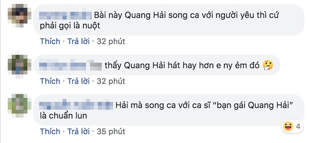 Giữa lúc bạn gái bị chê bai giọng hát, Quang Hải bất ngờ khoe giọng với ca khúc Người ấy và cái kết - Ảnh 3.