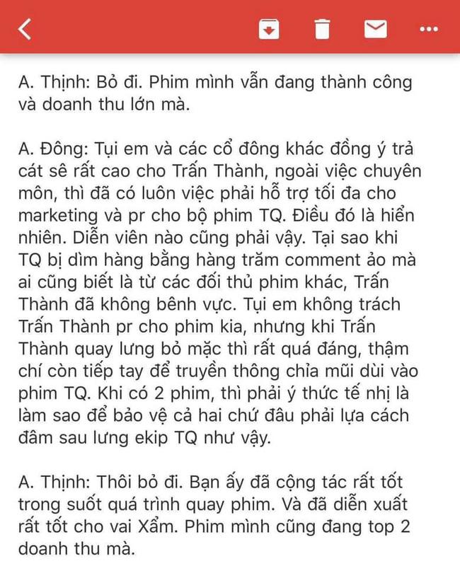 Rộ tin cổ đông phim Trạng Quỳnh đòi khởi kiện Trấn Thành trong ngày đầu năm mới  - Ảnh 3.