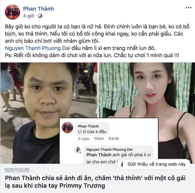 Phan Thành bức xúc lên tiếng về tin đồn vừa chia tay đã có người mới, em gái mưa vào bình luận bất ngờ - Ảnh 2.