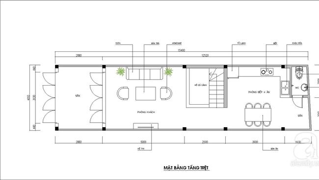Thiết kế nhà ống trong hẻm: Cách thiết kế nhà ống trong hẻm tiện lợi - Ảnh 1.
