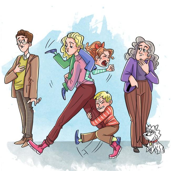 """Bộ tranh chuẩn không cần chỉnh: Có những buổi sáng tất bật """"không như là mơ"""" của các ông bố bà mẹ thời hiện đại - Ảnh 10."""