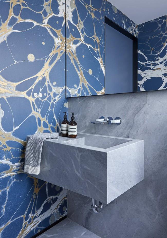 Những mẫu giấy dán tường nhà tắm chẳng thể chê vào đâu được - Ảnh 8.
