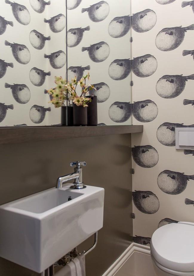 Những mẫu giấy dán tường nhà tắm chẳng thể chê vào đâu được - Ảnh 13.