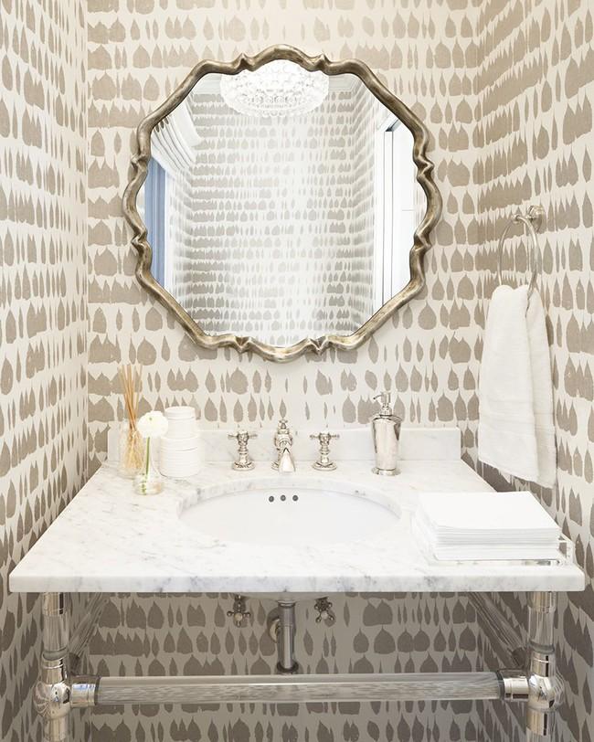 Những mẫu giấy dán tường nhà tắm chẳng thể chê vào đâu được - Ảnh 14.