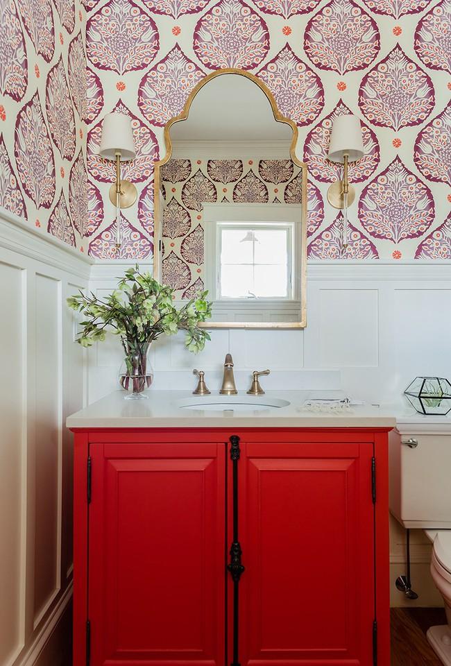 Những mẫu giấy dán tường nhà tắm chẳng thể chê vào đâu được - Ảnh 15.