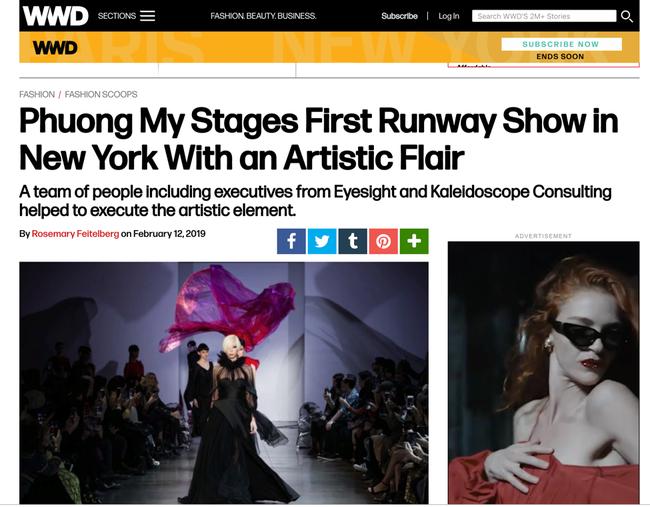 Tiếp bước Công Trí, BST mới của NTK Phương My tại Tuần lễ thời trang New York xuất hiện trên loạt tạp chí danh tiếng - Ảnh 3.