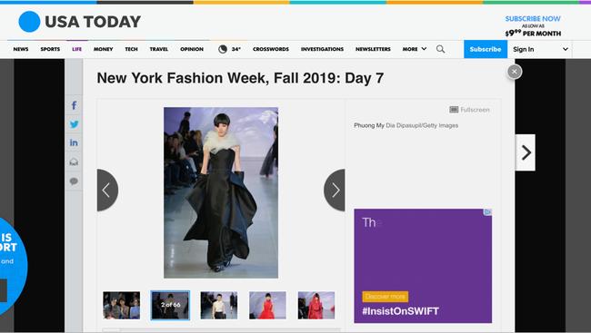 Tiếp bước Công Trí, BST mới của NTK Phương My tại Tuần lễ thời trang New York xuất hiện trên loạt tạp chí danh tiếng - Ảnh 4.