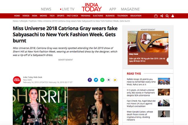 Phốt lớn đầu năm: Hoa hậu Hoàn vũ 2018 bị tố mặc váy nhái đến New York Fashion Week - Ảnh 3.