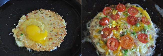 Làm pizza từ cơm nguôi: Không có lò nướng vẫn làm pizza từ cơm nguội - Ảnh 3.