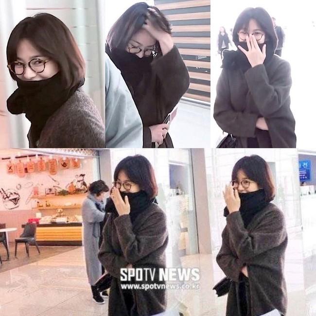 """Song Hye Kyo không đeo nhẫn cưới, """"hack dáng"""" với đôi giày đế thô dày cộp khi ra sân bay - Ảnh 5."""