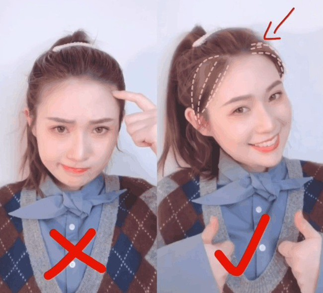 Gái Hàn, Trung để tóc đuôi ngựa đẹp mà không hề già chính là nhờ thủ thuật đơn giản này - Ảnh 1.