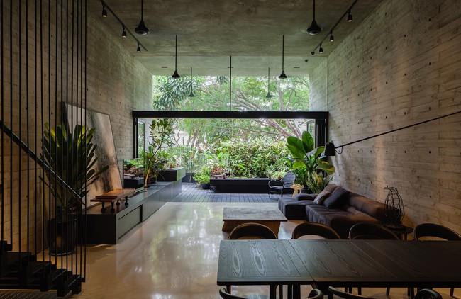 Ngôi nhà có mặt tiền lọc ánh sáng và không khí, tạo môi trường trong lành, sạch sẽ cho người sống trong nhà - Ảnh 3.