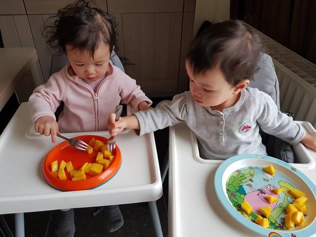 Mẹ Việt tại Bỉ chia sẻ trọn bộ bí kíp mẹ nào cũng muốn biết về hành trình cho hai bé sinh đôi ăn dặm, 15 tháng đã tự xúc thìa ăn ngon lành - Ảnh 9.